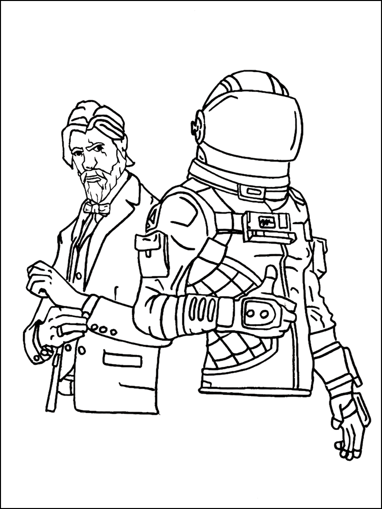 This is a photo of Invaluable Fornite Coloring Pages
