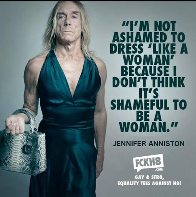 Funny Jennifer Anniston Iggy Pop Dress Like A Man Meme Joke Picture
