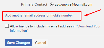 facebook me mobile number add kaise kare