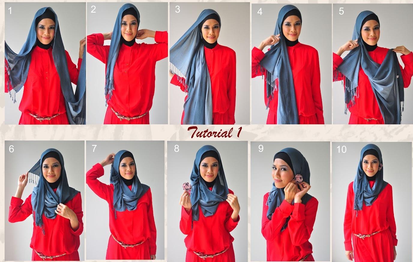 Ini Dia Gaya Hijab Tampil Beda Untuk Wajah Panjang