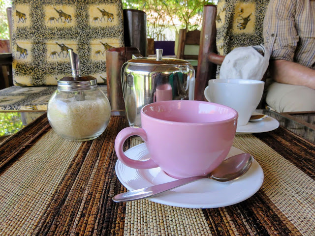 Coffee mug at Anna's Corner in Entebbe, Uganda