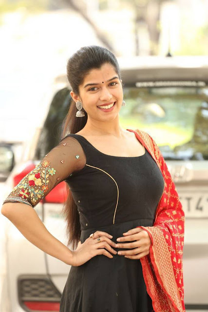 Mahima Stills At Indrasena Movie Success Meet