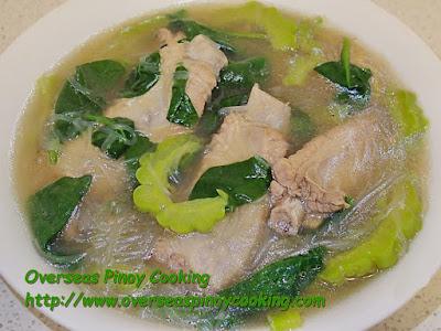 Pork Ribs Tinola with Sotanghon and Ampalaya