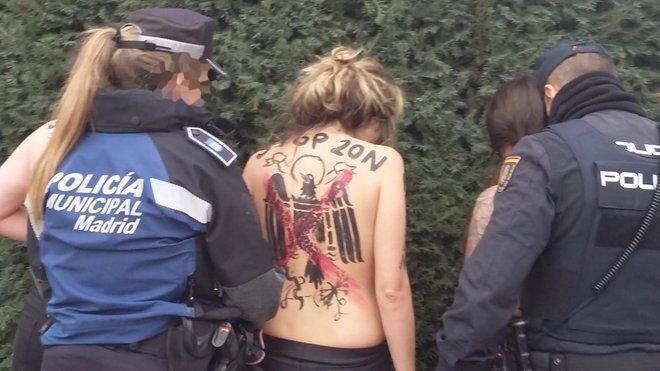 El líder de Falange aprovechó la retención de una activista de Femen para abusar de ella