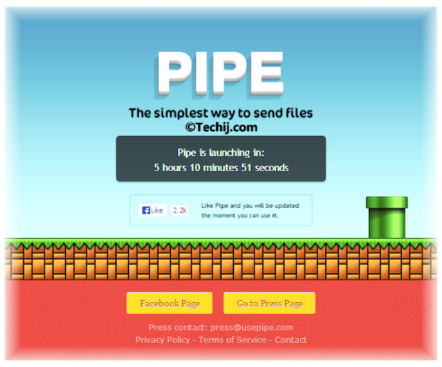 Facebook Pipe app to send big files