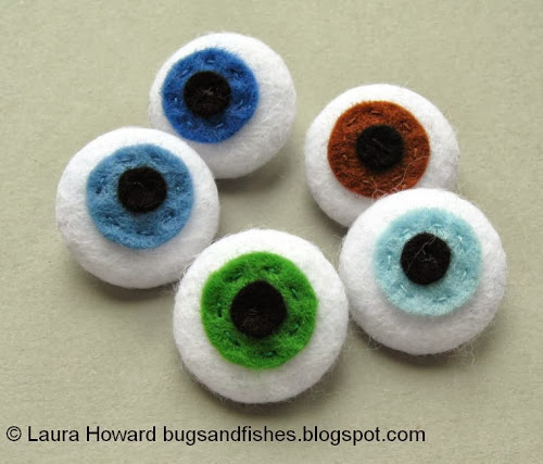 Bugs And Fishes By Lupin: How To: Felt Eyeball Buttons For