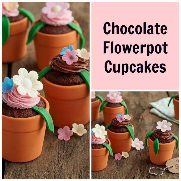 Chocolate Flowerpot Cupcakes: Pretty And Tasty