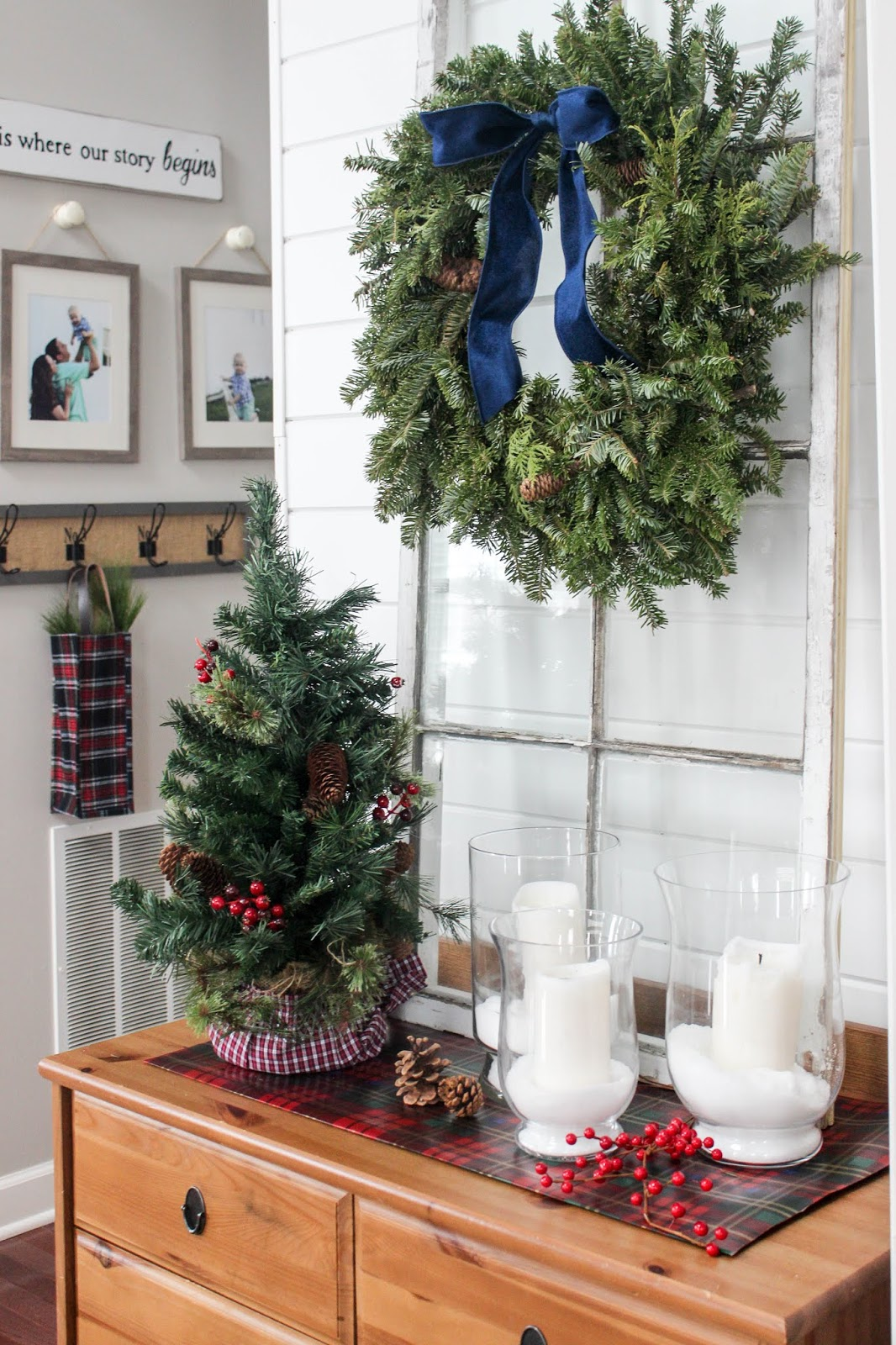 foyer table christmas decoration table ideas