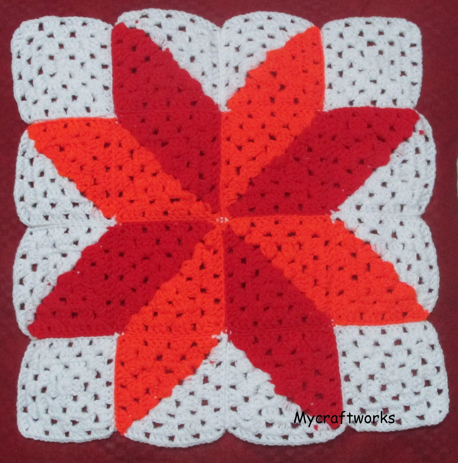 My craft works: Two colour granny squares