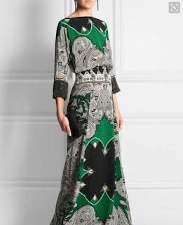 Model baju batik pesta long dress