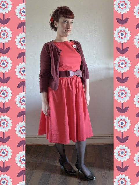 robe corail pinup