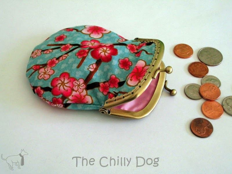 March Giveaway: Enter to win a handmade cherry blossom coin purse from @thechillydog