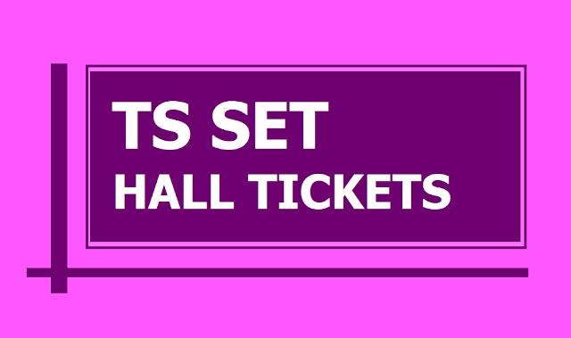 TS SET Hall tickets 2019 download from telanganaset.org and TS SET Exam Dates