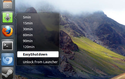 schedule shutdowns in ubuntu1304