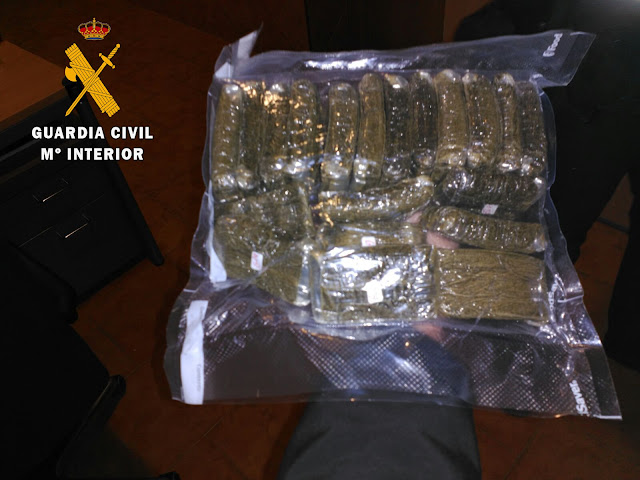 Droga incautada por la Guardia Civil