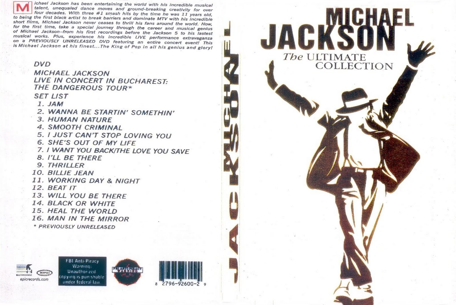 Michael Jackson Ultimate Collection: The Ultimate Collection:Covers Filmes