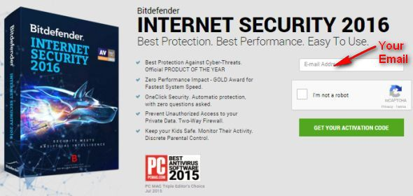 free Bitdefender Internet Security 2016 activation code