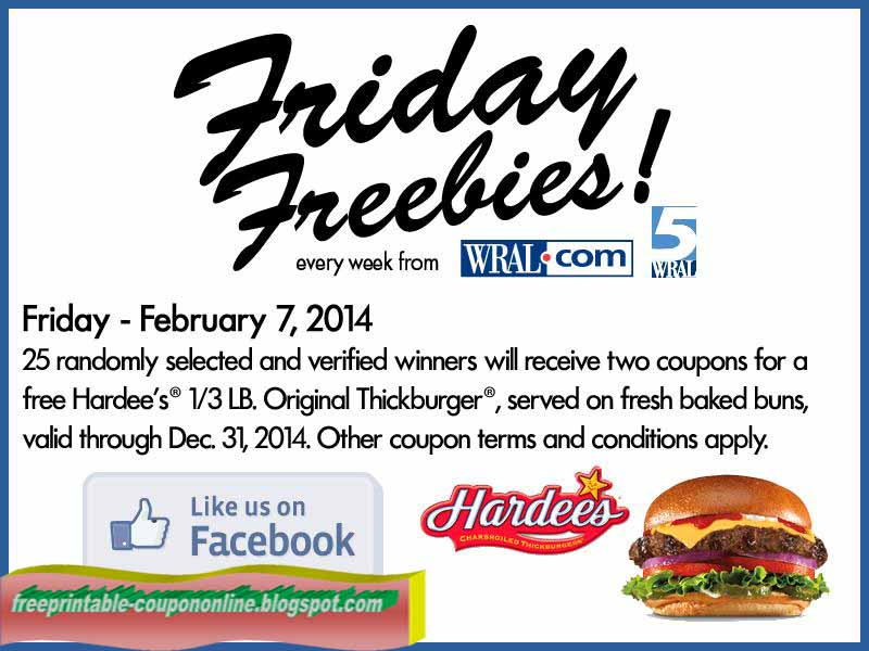 It's just a graphic of Exceptional Printable Hardees Coupons