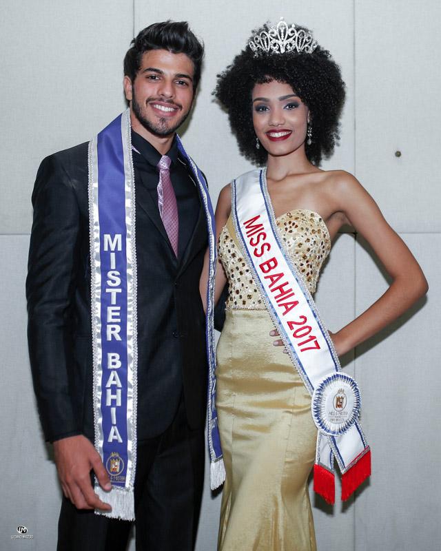 Gabriel Lemos e Adrielle Lima, Miss e Mister Bahia 2017. Foto: Luciano Macêdo