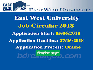 East West University Professor and Lecturer Job Circular 2018