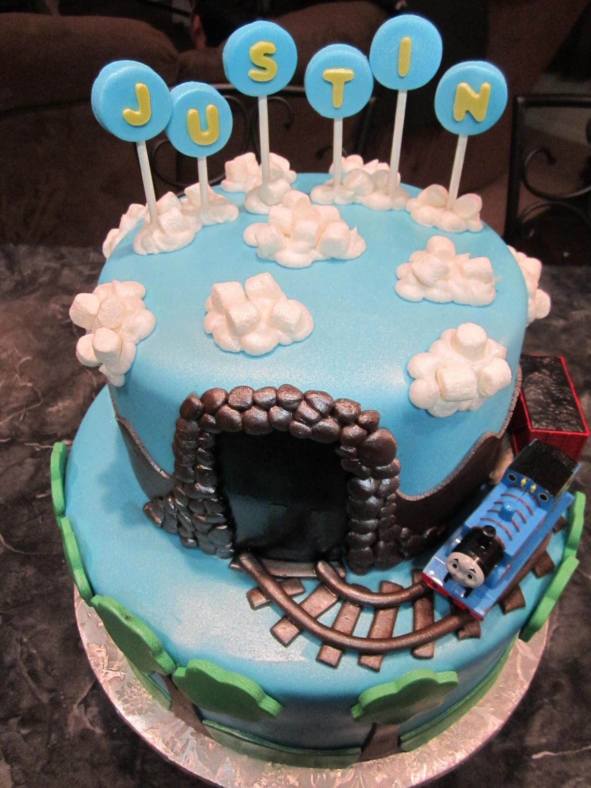 Mymonicakes Thomas The Train Cake