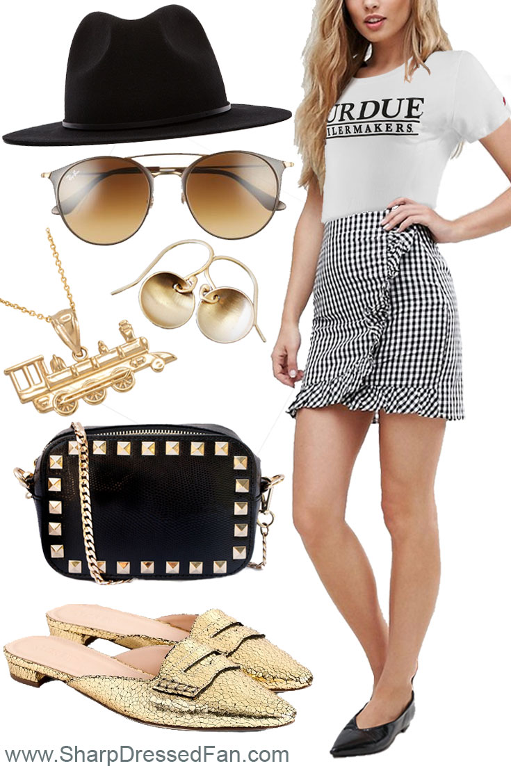 Purdue Boilermakers women's fashion outfit