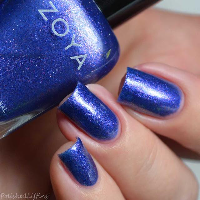 bright purple foil nail polish