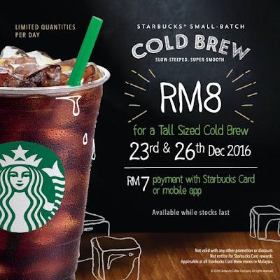 Starbucks Card Cold Brew Discount Promo