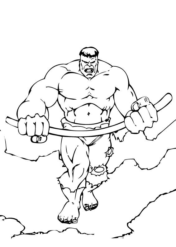 Incredible Hulk Coloring Pages | Learn To Coloring