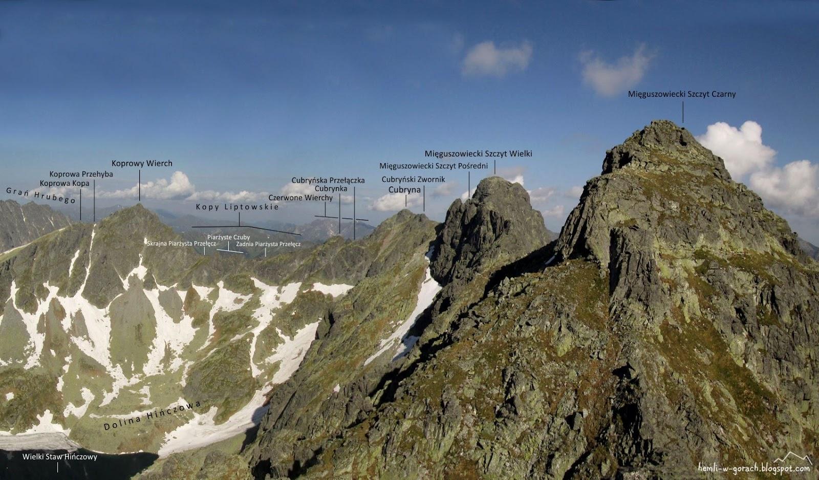 panorama z Hińczowej Turni