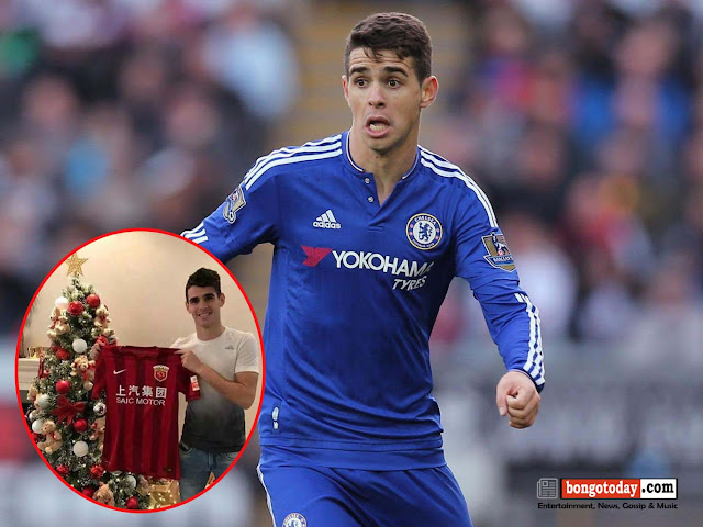 "Chelsea midfielder ""Oscar"" to join Shanghai SIPG in China for  £60m"