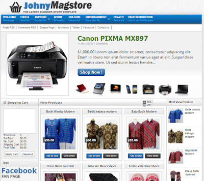 2 templates to build Shop Online from Mastemplate
