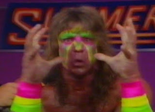 WWF / WWE Summerslam 1989 - The Ultimate Warrior cuts a promo on Ravishing Rick Rude