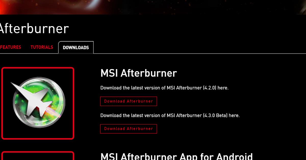 8570w blog: MSI AfterBurner の導入方法・設定方法を日本語で解説! 【MSI 以外の PC でも可!】