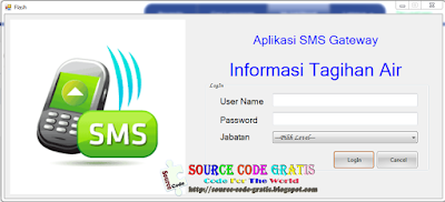 Free Download VB.NET Source Code Aplikasi Informasi Tagihan Air Menggunakan SMS Gateway