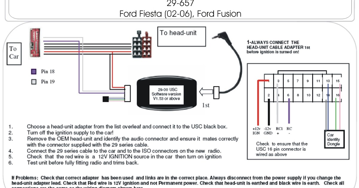 20022006 Ford Fiesta Steering Control Adapter   Schematic