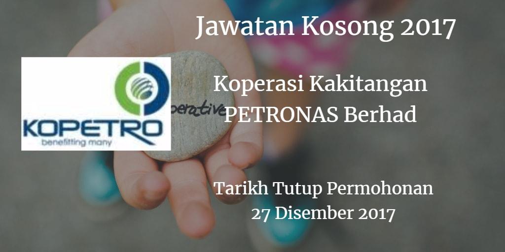 Jawatan Kosong KOPETRO 27 Disember 2017
