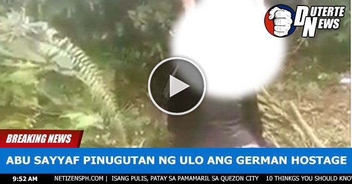 IN VIDEO: Abu Sayyaf Pinugutan Ng Ulo Ang German Hostage