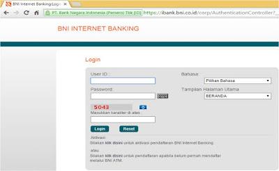 Menambahkan  Rekening Tujuan di Internet Banking BNI
