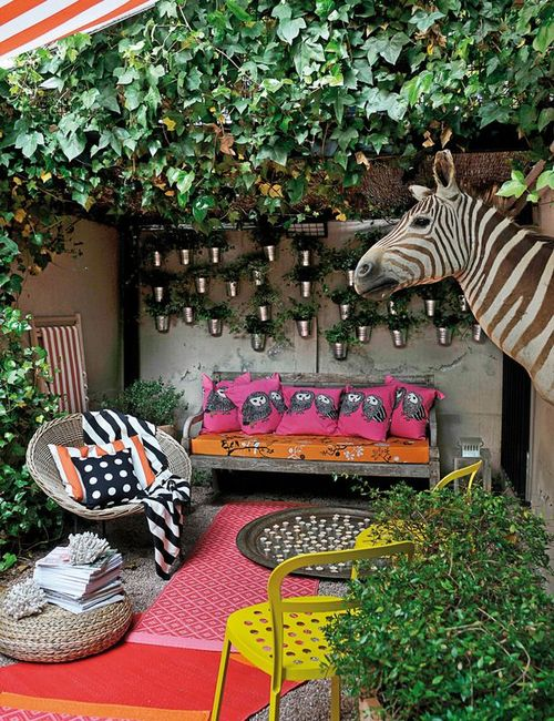 layered rugs outdoor