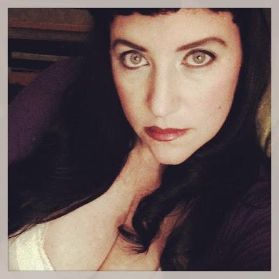 Bridget Eileen Plus Size Pin Up with Vampy Vixen Style Dark Eye Makeup
