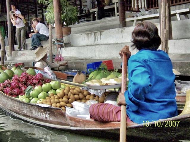 Excursion desde Bangkok al Mercado Flotante Damnoen Saduak