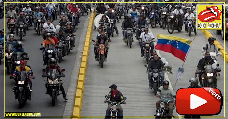 Caravana de Motorizados custodiaron el vehículo de Juan Guaidó
