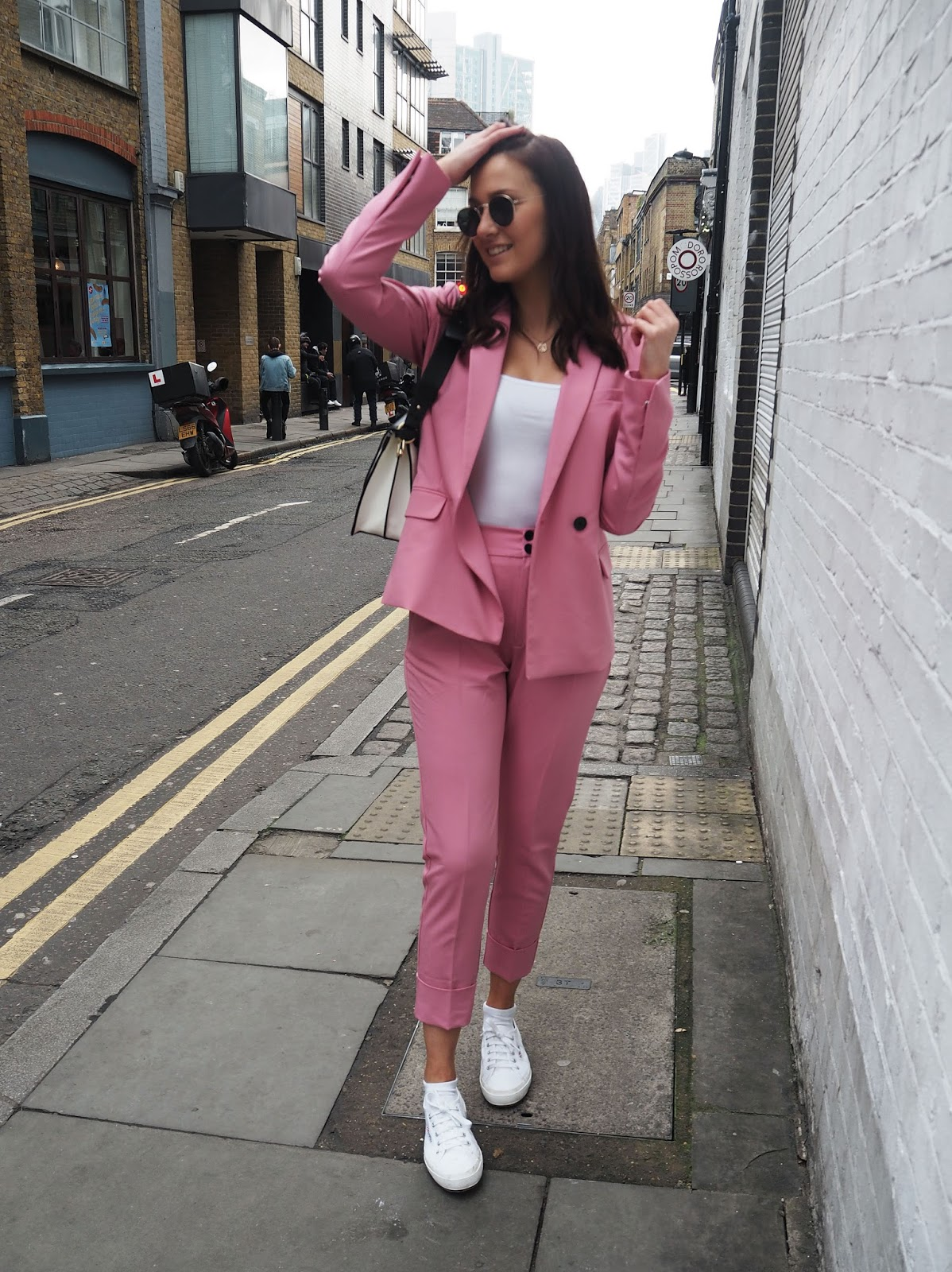 The Pink Suit Bershka Street Style London Lauren Rose