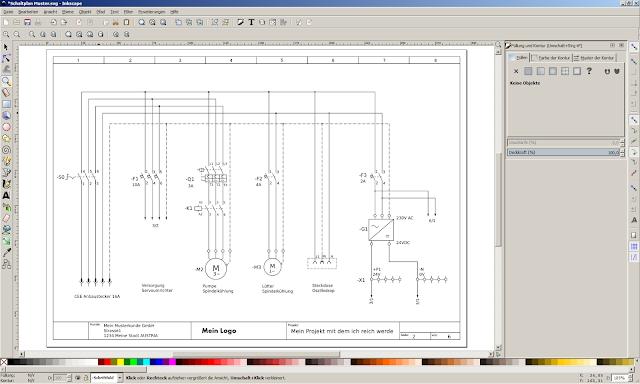 Elektroschaltpläne mit Inkscape zeichnen: Elektroschaltplan in ...