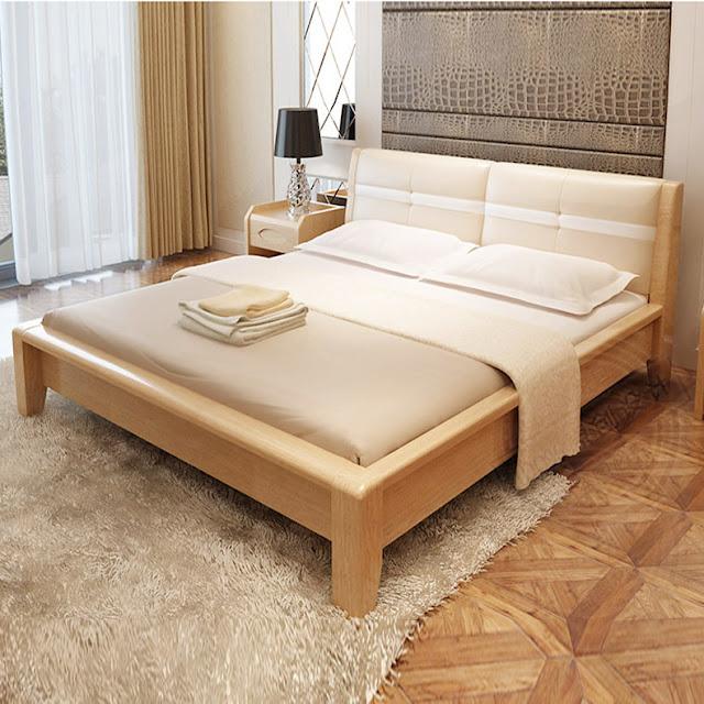 Giường gỗ mang phong cách hiện đại