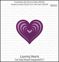 Divinity Designs Custom Layering Hearts Dies