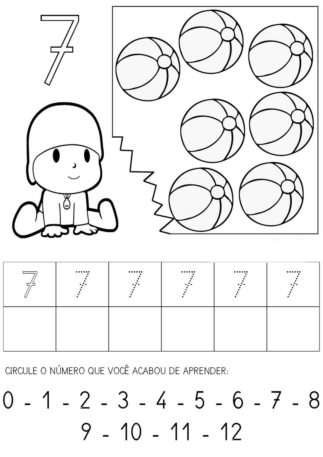 clube da cor atividades escolares atividades com o nÚmero sete