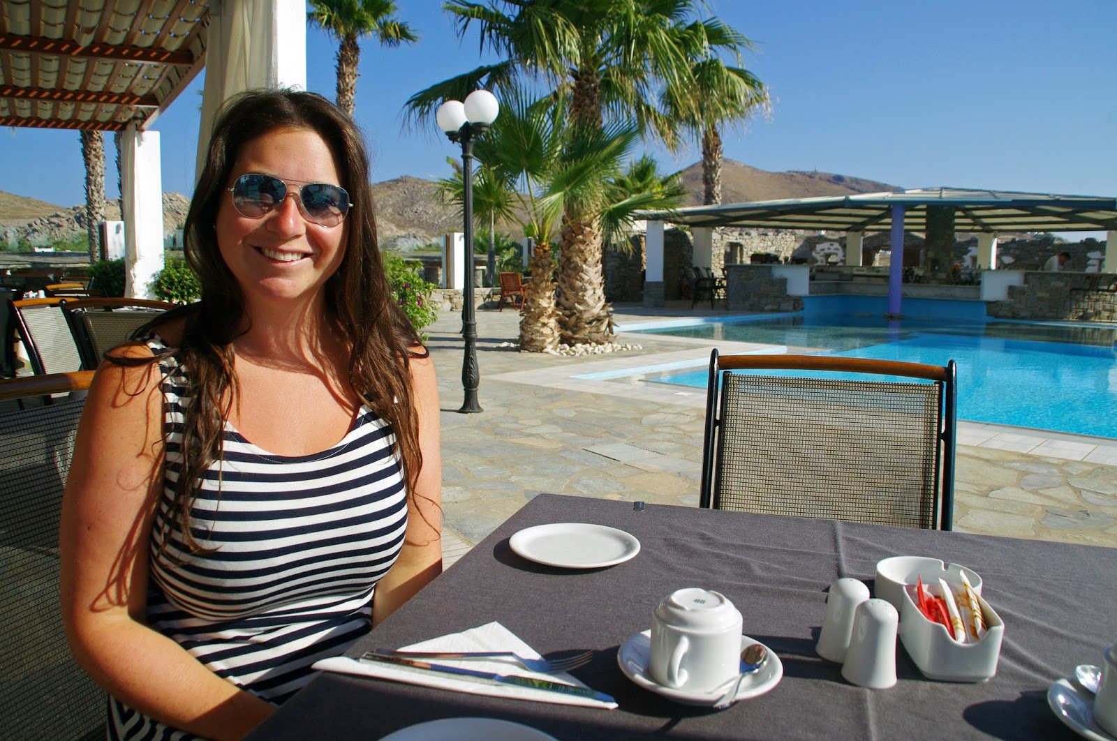 Astir of Paros poolside breakfast dining