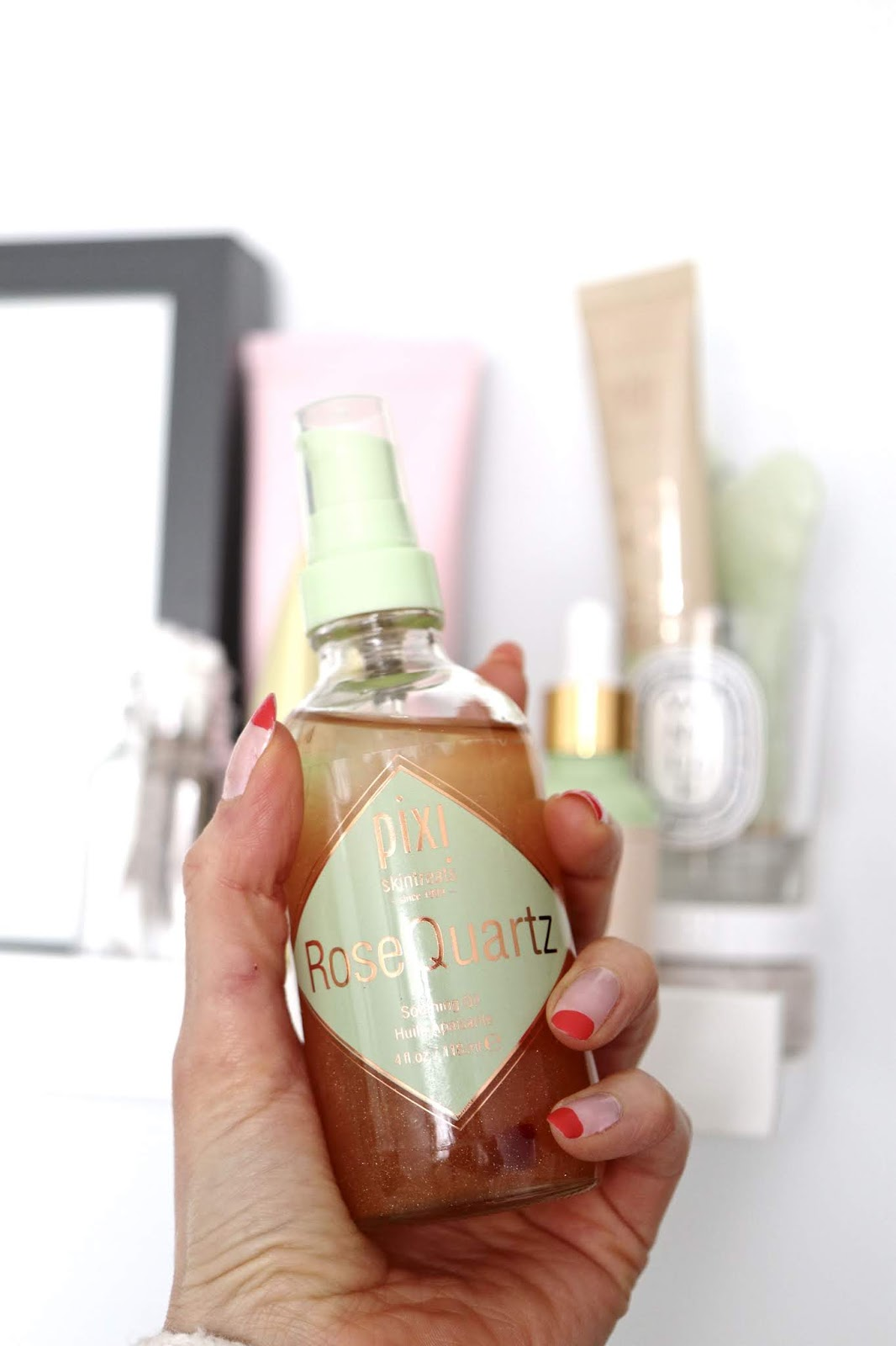 Pixi Beauty Spring collection rose quartz soothing oil